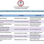 Cronograma dos Exames de Qualificação de TCC 2014.2 é divulgado